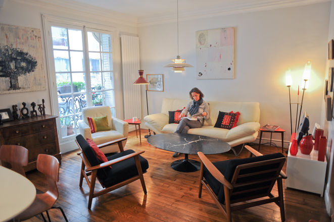 sara camus bouanha architecte d'intérieur Paris, rénovation compléte d'un appartement de 40m2 place de clichy paris 18eme